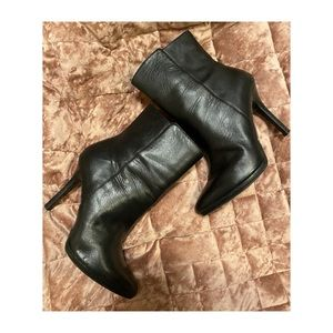 Ralf Lauren Black Leather Booties